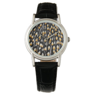 Spotted jungle cock feathers watch