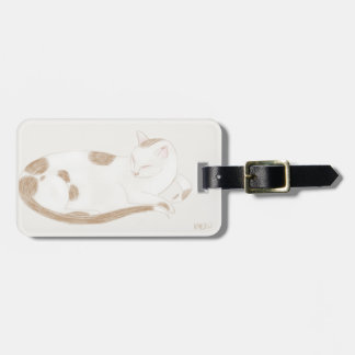 Spotted Kitty Luggage Tag