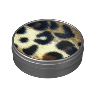 Spotted Leopard Print Candy Tin