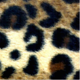 Spotted Leopard Print Standing Photo Sculpture