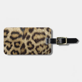 Spotted Leopard Skin Luggage Tag
