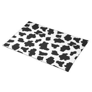 Spotted Little Moo Cow Dutch Holstein Animal Spots Placemat