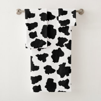 Spotted Moo Cow Dutch Holstein Animal Spots Bath Towel Set