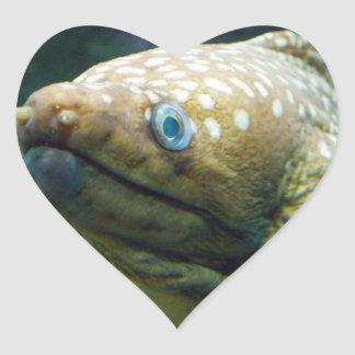 Spotted Moray Eel Heart Sticker