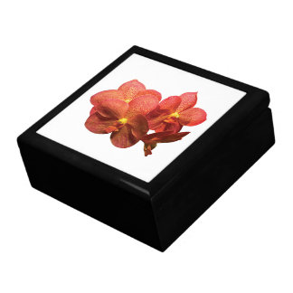 Spotted Orange Orchid Large Square Gift Box