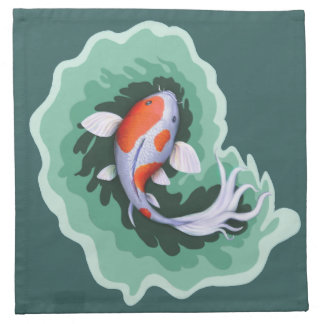 Spotted Orange & White Koi Fish Napkin