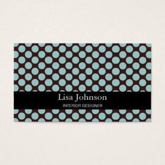Spotted Polka Dots Interior Designer Card
