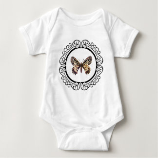 spotted ringed butterfly baby bodysuit