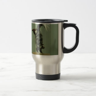 Spotted skunk; museum exhibit travel mug