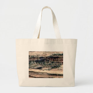 spotted white desert large tote bag