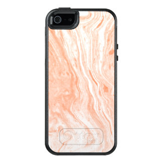 Spotted White & Light Orange Marble Stone Pattern OtterBox iPhone 5/5s/SE Case