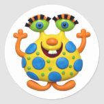 Spotted Yellow Monster Sticker