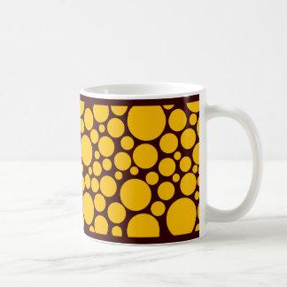 Spotty Amber on Dark Brown Coffee Mug