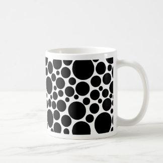 Spotty Black on White Mug