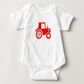 Spotty, colourful, gender neutral tractor bodysuit