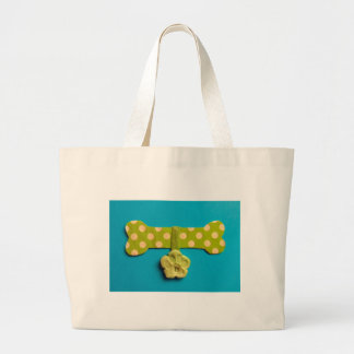 Spotty Dog Bone - B Large Tote Bag