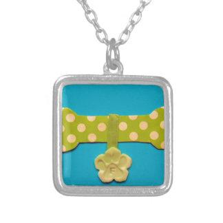 Spotty Dog Bone - f.jpg Square Pendant Necklace