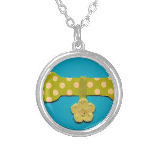 Spotty Dog bone - j.jpg Round Pendant Necklace