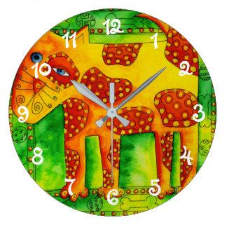 Spotty Dog Large Clock
