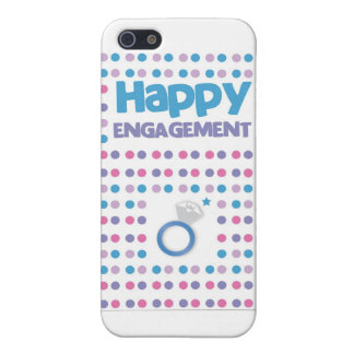 Spotty Happy Engagement greeting card iPhone 5/5S Case