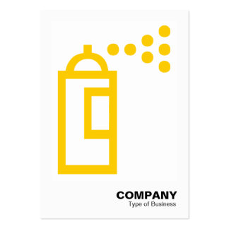 Spray Can - Amber on White Business Card