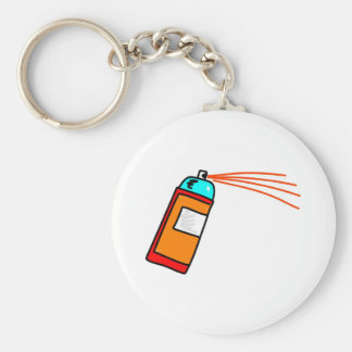 Spray Can Basic Round Button Key Ring