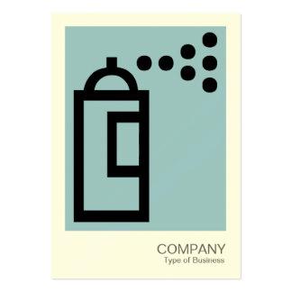 Spray Can - Black on Blue (9dc6d8)(Cream Card) Business Card