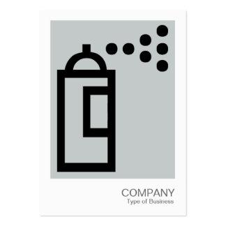 Spray Can - Black on Light Gray Business Card