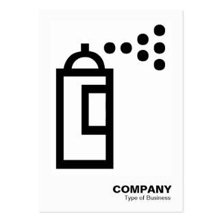 Spray Can - Black on White Business Cards