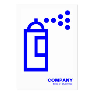 Spray Can - Blue on White Business Card Template