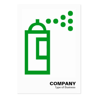 Spray Can - Grass Green on White Business Cards