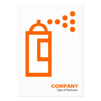 Spray Can - Orange on White Business Card