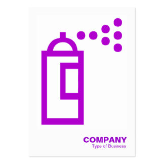Spray Can - Purple on White Business Card Templates
