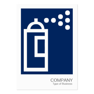 Spray Can - White on Dark Blue 00255e Business Card Templates