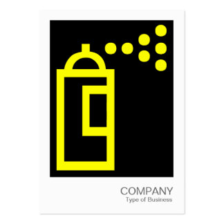 Spray Can - Yellow on Black Business Card Templates