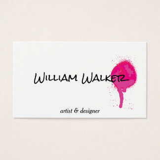 Spray | Expressive II (hot pink) Business Card