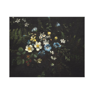 Spray of Flowers and Ferns by Titian Ramsay Peale Canvas Print