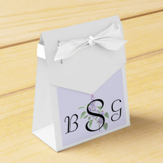 Spray of Lilacs Wedding Products Favour Box