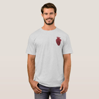 Spray Paint Anatomical Heart Shirt (Pocket Design)