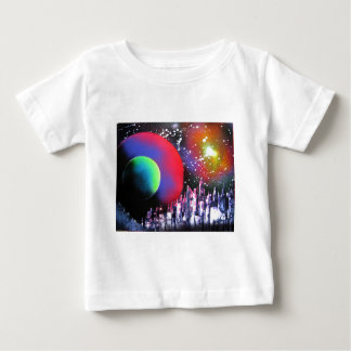 Spray Paint Art City Space Landscape Painting Baby T-Shirt