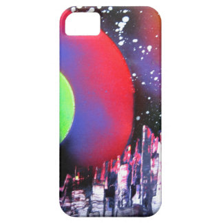 Spray Paint Art City Space Landscape Painting Case For The iPhone 5