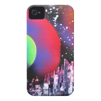 Spray Paint Art City Space Landscape Painting iPhone 4 Case