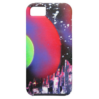 Spray Paint Art City Space Landscape Painting iPhone 5 Cover