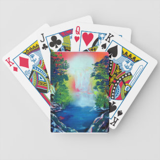 Spray Paint Art Forest Waterfall Sunset Painting Bicycle Playing Cards