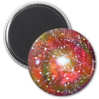 Spray Paint Art Night Sky Space Painting 6 Cm Round Magnet