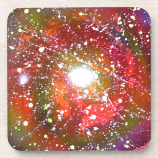 Spray Paint Art Night Sky Space Painting Beverage Coaster