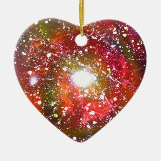 Spray Paint Art Night Sky Space Painting Ceramic Ornament