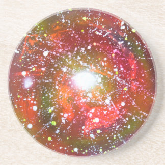 Spray Paint Art Night Sky Space Painting Coaster