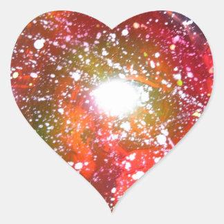 Spray Paint Art Night Sky Space Painting Heart Sticker