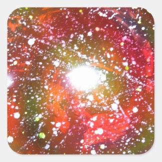 Spray Paint Art Night Sky Space Painting Square Sticker